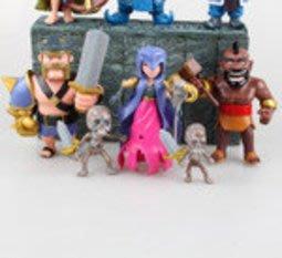 【紫色風鈴3.3】8款部落衝突COC 部落戰爭弓箭女巫/國王/騎士人物袋裝 港