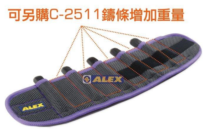 運動GO~ ALEX 丹力 C-25 十格式 調整式 加重綁腿 加重器 負重 肌力鍛煉 腳力 5磅~10磅 台灣製造