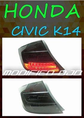 DJD Y0543 HONDA CIVIC 9 K14 13-15年 LED 光柱燻黑尾燈一組 台灣製造精品