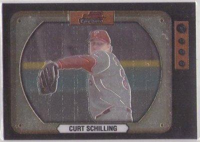 紅襪隊 已退休強投 Curt Schilling  Bowman 少見 電視牆 平行卡~~SP