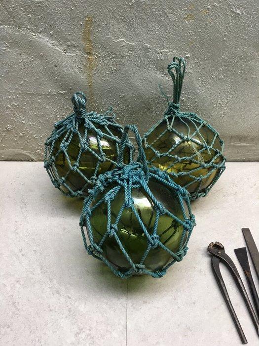 早期漁船用玻璃浮球 18cm左右 2個一標 已預訂 他人勿標