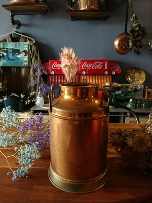 【Antique Home 古董家】『✩雕刻純銅壺✩老英國✩19XX年✩歐洲古董純銅壺瓶罐 高22cm✩』Made in England 純銀器/鍍銀可參考