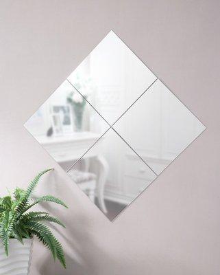 寬40*40細邊加大壁鏡 貼鏡 裸鏡 掛鏡 (1組4片)【型號MR434】送雙面泡棉膠