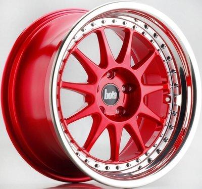 英國新銳品牌 BOLA B4 17吋鋁圈 糖果紅 5孔100 4孔100 4孔114.3 5孔114.3