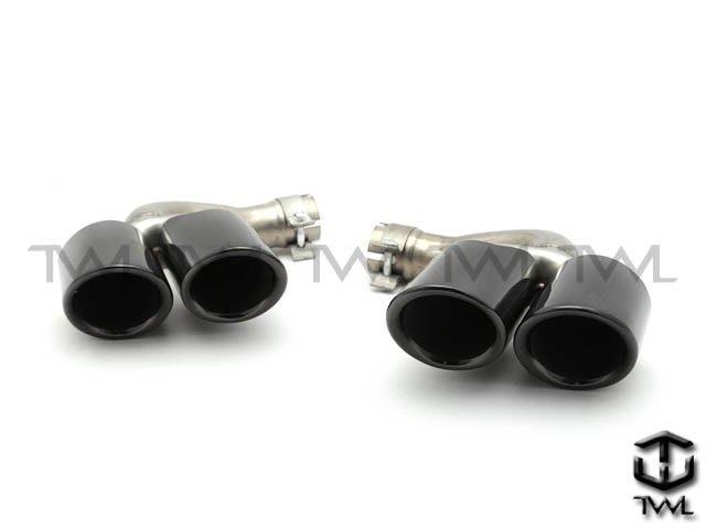 《※台灣之光※》全新保時捷PORSCHE新凱燕19 20年CAYENNE E3升級雙圓管白鐵尾管黑色款