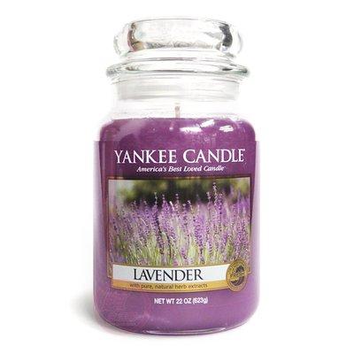 便宜生活館【家庭保健】Yankee Candle 香氛蠟燭 22oz /623g (薰衣草) 全新商品 (可超取)
