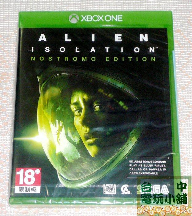 台中電玩小舖~XBOX ONE原裝遊戲片~異形 孤立 Alien Isolation~1290