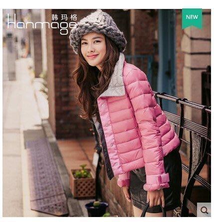【優上精品】韓瑪格韓版輕薄羽絨服女短款冬裝立領修身顯瘦(Z-P3139)