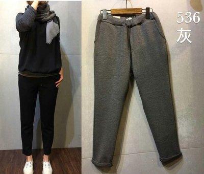 【iJOYCE】韓國女裝輕空氣感好搭綿褲 灰/黑 現貨