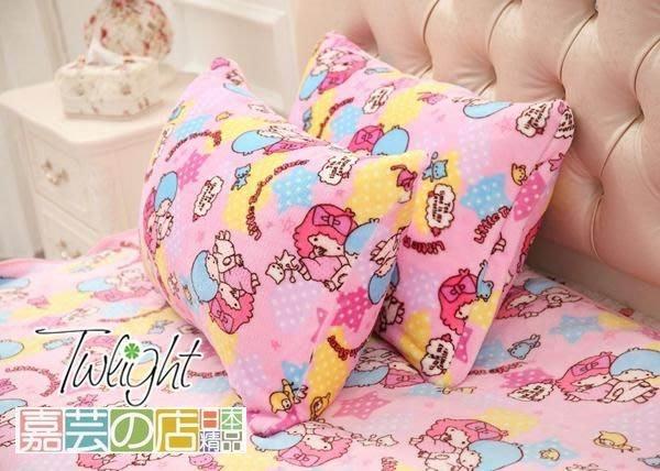 嘉芸的店 little twin stars 雙子星 小雙子星 枕頭套 護髮枕頭套 日本枕套(不含枕心)日本珊瑚絨枕套