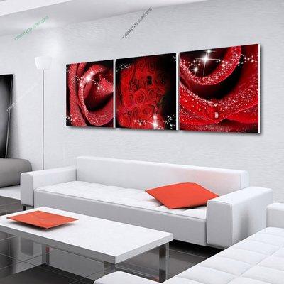 【70*70cm】【厚0.9cm】紅玫瑰-無框畫裝飾畫版畫客廳簡約家居餐廳臥室牆壁【280101_310】(1套價格)