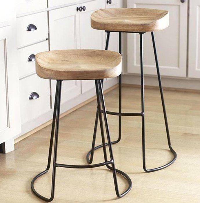 【工業復古】工業風鐵製細腳椅『可客製』高腳椅/IKEA高腳椅酒吧椅/美式復古作舊咖啡店民宿/宜家/酒吧椅/檯椅/餐椅