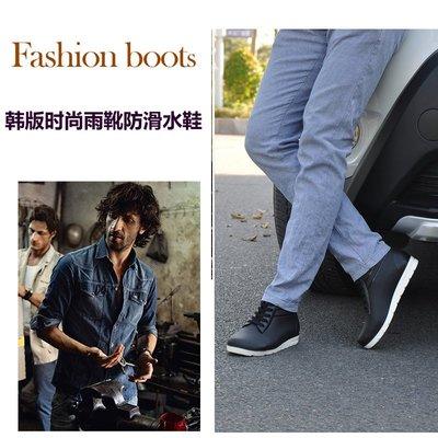 男生雨鞋 短筒雨靴 短筒雨鞋 低幫雨靴 型男首選  韓版時尚雨鞋 男短筒低幫雨靴 水鞋  型男雨靴