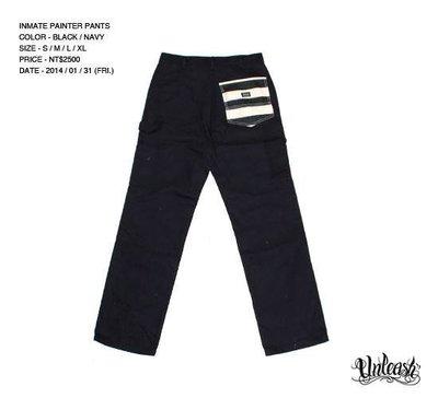 【AXE】UNLEASH - INMATE Painter  囚犯工作褲[黑]西岸潮流街頭 刺青重機 滑板