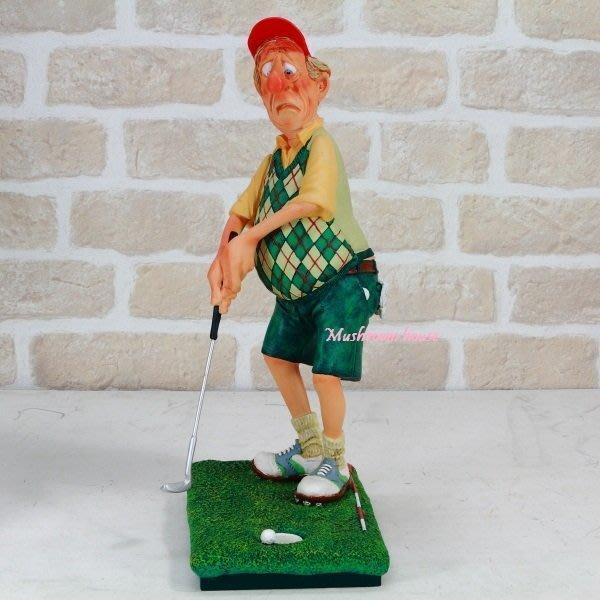 點點蘑菇屋 歐洲進口 精緻法國社會寫實派設計師FORCHINO系列擺飾-高爾夫球之推桿進洞 高爾夫球桿 選手 推球入洞