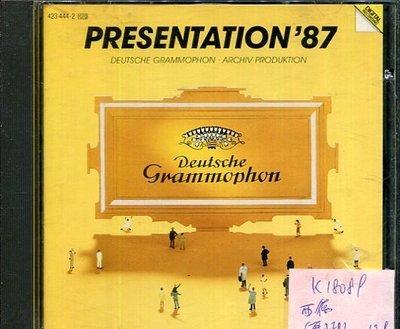 *真音樂* PRESENTATION'87 西德版 二手 K18089 (無IFPI)