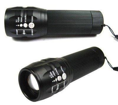 ~雅虎A店~  Q5 強光手電筒  伸縮旋轉變焦調光聚焦手電筒 自行車前燈  整組含槍燈