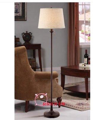 {美學}歐式美式燈具 客廳臥室 簡約 美克美家拉繩台燈落地燈MX-2189