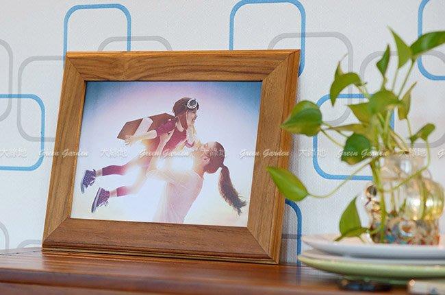 ◎ 大綠地柚木家具 【柚木相框 適用6*8相片(2入)】8吋相片 實木相框 原木相框 直掛相框 橫立相框 可桌立可掛 ◎