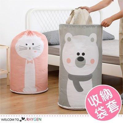 八號倉庫 動物印花大容量束口整理袋 衣物棉被收納袋【2W152M525】