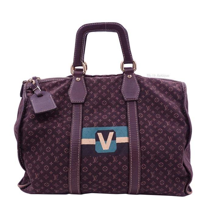 《十九號二手屋》LV mini Monogram 限量款咖啡色丹寧布料手提/斜背旅行袋 Louis Vuitton