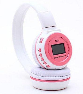 N65 特價插卡MP3耳機 運動mp3插卡耳機 身歷聲FM耳機 859