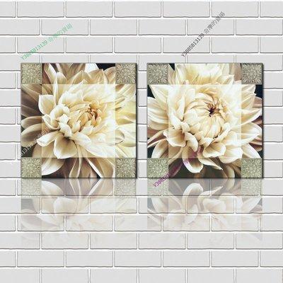 【70*70cm】【厚1.2cm】印象白花-無框畫裝飾畫版畫客廳簡約家居餐廳臥室牆壁【280101_210】(1套價格)