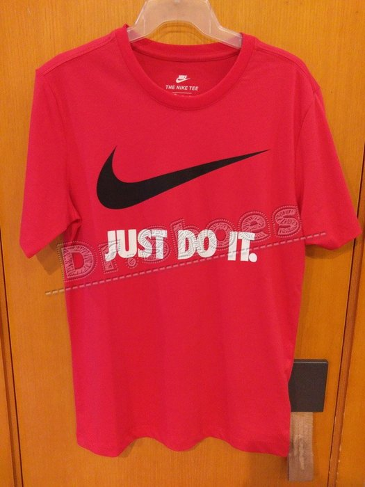【Dr.Shoes 】Nike NSW Tee 男裝 紅 黑Logo JDI 休閒運動 短袖T恤 BQ0593-657