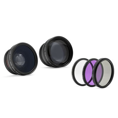 【美購】廣角和遠攝鏡頭 附52mm濾鏡套件 適Nikon 全新