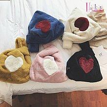 ☆[Hankaro]☆ 時尚流行仿獺兔毛皮草可愛毛絨絨愛心背心包輕便宴會手腕包