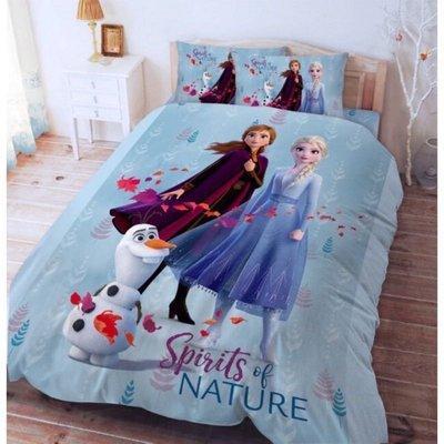 正版授權 迪士尼 FROZEN 冰雪奇緣 艾莎 安娜 雪寶 秋日之森款 標準單人床包 單人床包組 單人床包 床包 寢具 3.5*6....