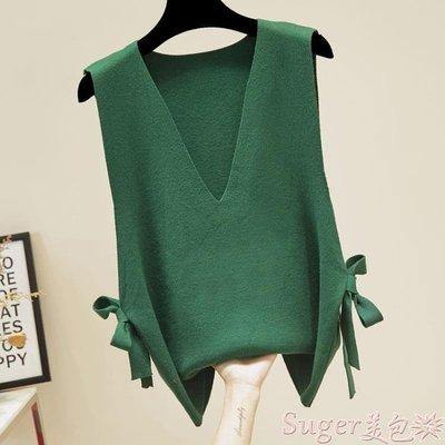 毛衣背心 女士馬甲學生韓版女潮毛衣背心針織外穿寬鬆春秋新款時尚坎肩  後街五號-