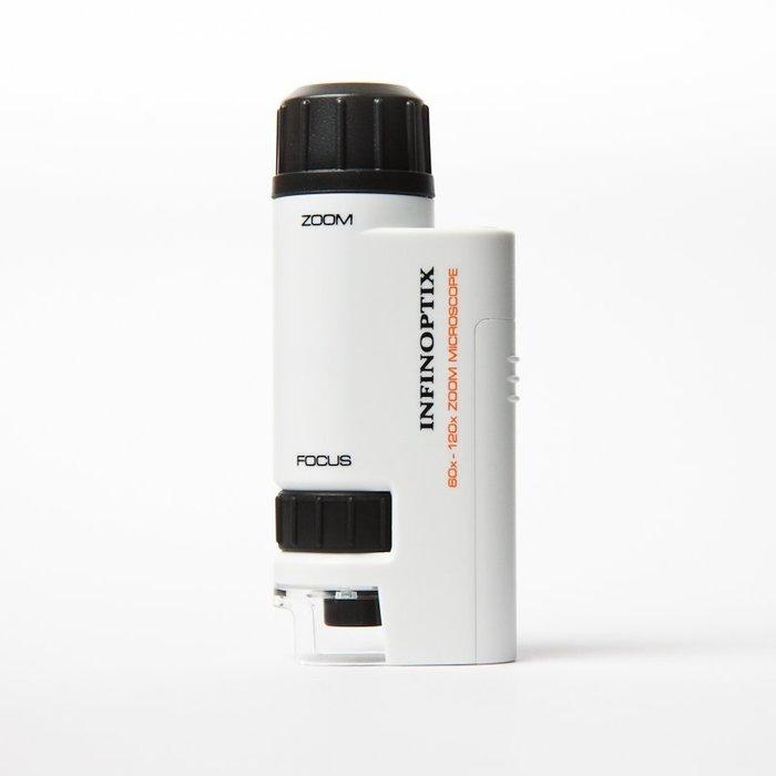 【ErgoMap人因地圖】 迷你型光學顯微鏡 M302 / 60-120倍 附高亮度LED光源 光學顯微鏡 珠寶放大鏡