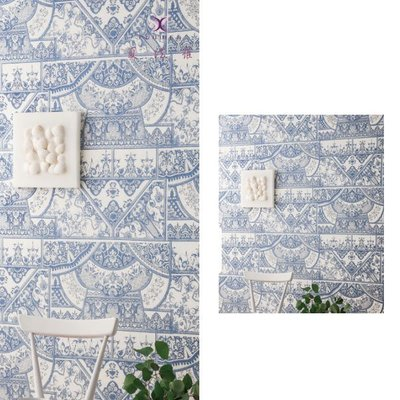 【夏法羅 窗藝】日本進口 豪華鄉村復古雕花圖紋壁紙 BT-163719