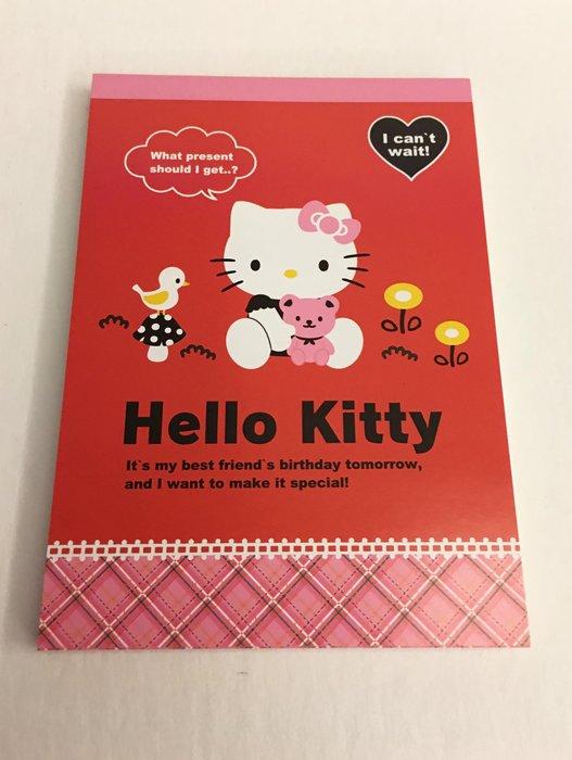 ^燕子部屋 ^正版 【Hello Kitty】可愛便條本-花園