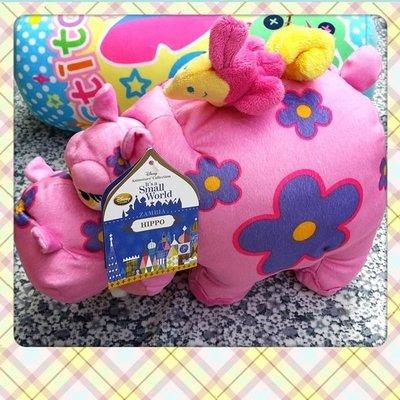 ╭☆HAPPY城堡☆╮美國DISNEY代購~我的小小世界~可愛粉紅河馬超卡哇伊