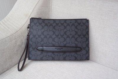 風格COACH包 全新正品 73148 新款防刮C紋皮革手拿包 手拎包 全場特價 附購買證明