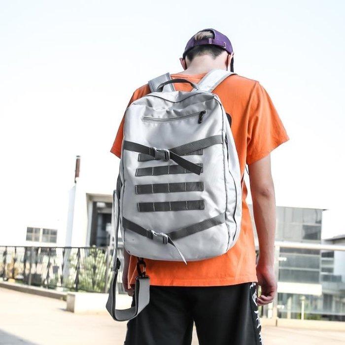 學生雙肩包男旅行背包潮牌時尚潮流單肩包運動斜挎包校園bf風書包 -百利