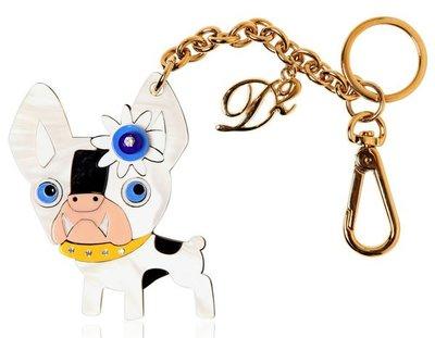 REISEN:IT.全新真品義大利製 DSquared2 鬥牛犬黃銅鑰匙圈!超可愛單品