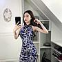 (現貨SML在台 2-3可收)潘朵拉衣閣改良式鏤空印花旗袍甜美短裙無袖開叉復古包臀洋裝連衣裙宴會尾牙春酒小禮服