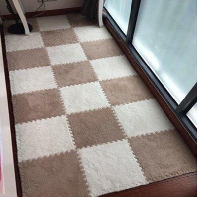 兒童毛絨面地毯拼接臥室滿鋪地板墊子拼圖方塊泡沫地墊榻榻米加厚10片 〖新生活〗