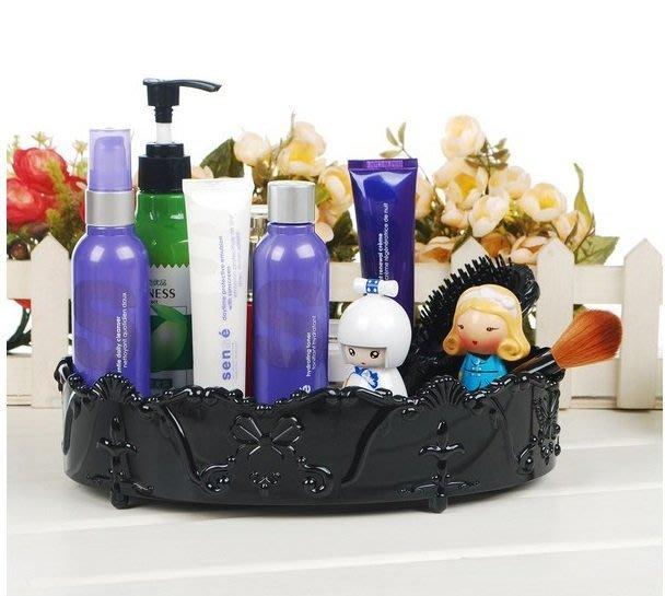 蘇菲亞精品傢飾~薔薇橢圓收納盒化妝品收納/美妝小物