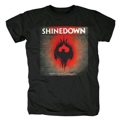 Shinedown硬搖滾樂隊 另類金屬 硬搖滾 南方搖滾歐美音樂t恤