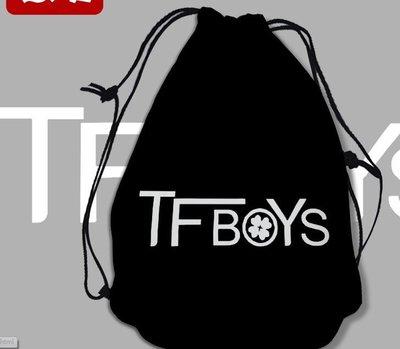 TFBOYS明星周邊 雙肩束口袋 束口布袋 卡通束口背包 兒童背包書包