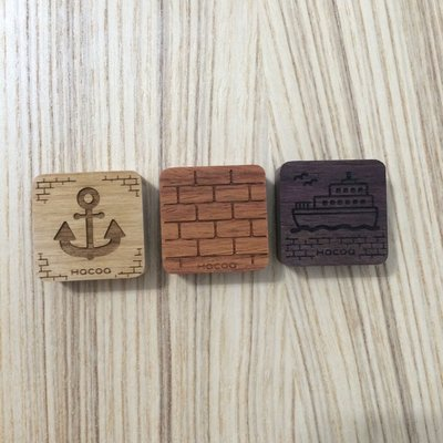 Daii Hacoa 木頭 磁鐵 magnet 橫濱倉庫 方型