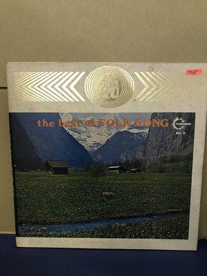 開心唱片 (THE BEST OF FOLK SONG / ) 二手 黑膠唱片 D349(私藏)