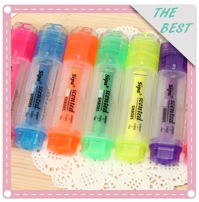 ❤❤心生活創意禮品館❤❤糖果色 螢光筆 香味 記號筆 文具