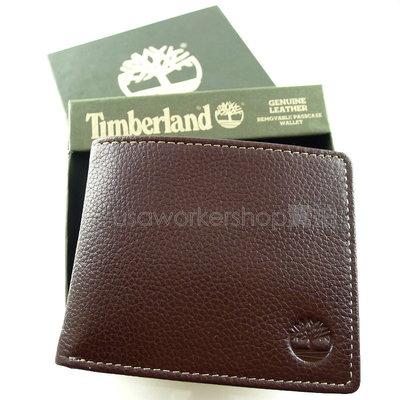 ◎Timberland專櫃正品◎咖啡色牛皮附照片夾皮夾 固定/可拆 短夾 禮盒