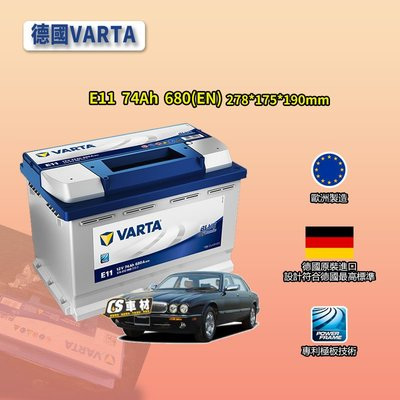 CS車材 - VARTA 華達電池 JAGUAR 捷豹 SOVEREIGN/XJ-6/XJ-SC 代客安裝