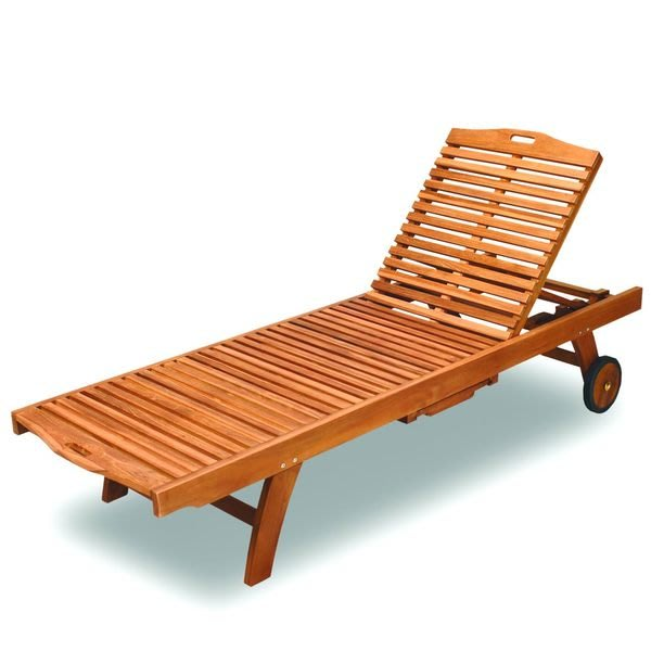 躺椅~印尼柚木雪梨二節式柚木躺椅(可另加軟墊)~~~兄弟牌南洋休閑風情泳池休閒必備!!